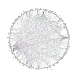 Visualization of connections on Flickr